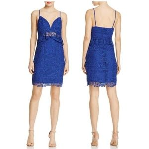 GUESS Solistice Lace Blue Bodycon Dress Size 4 NWT